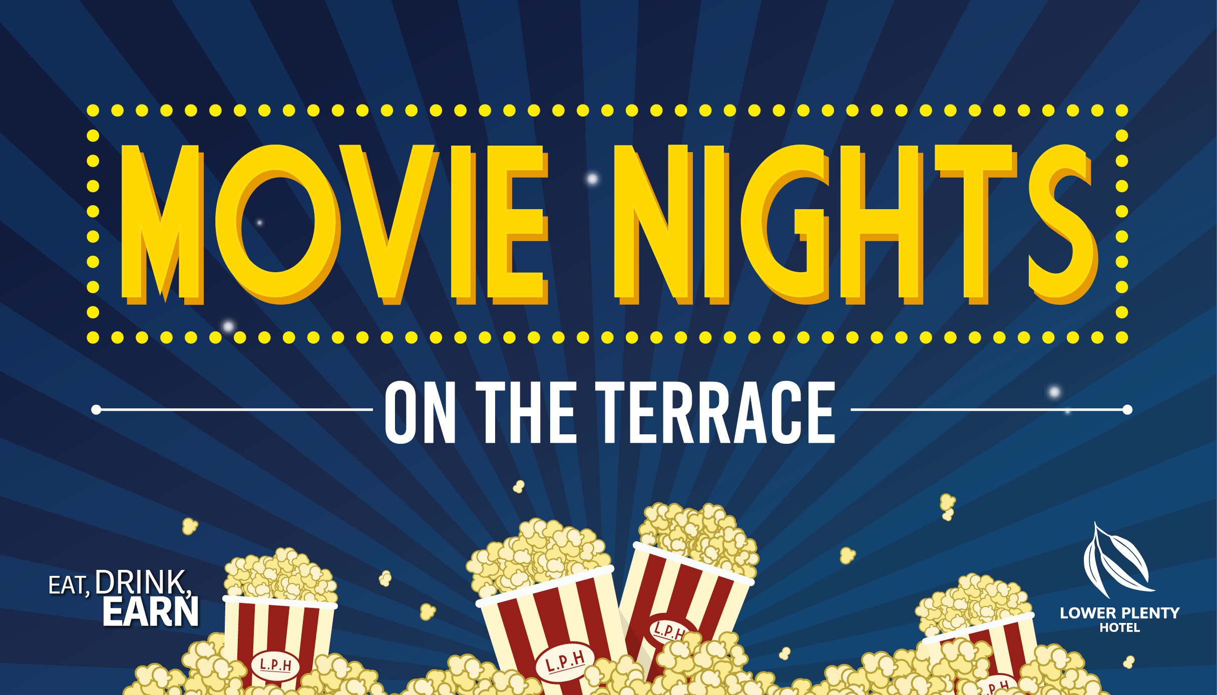 Movie nights on the terrace lower plenty hotel for Movies at the terrace