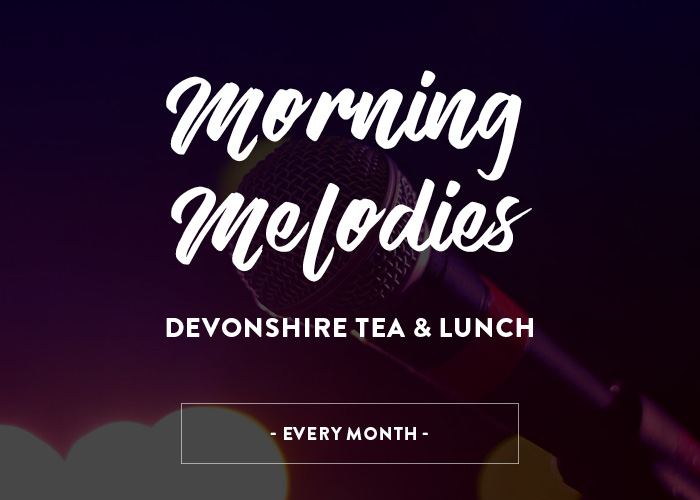 Morning Melodies, Tea and Lunch Every Monday