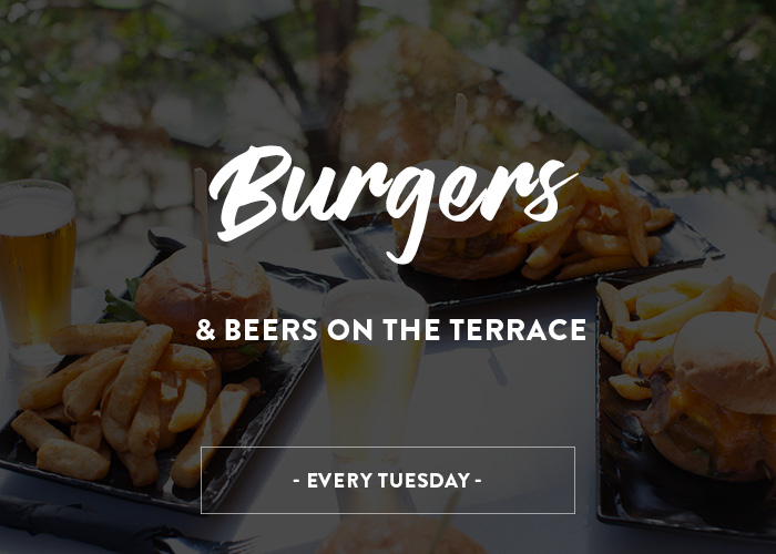 Burgers & Beers on the Terrace