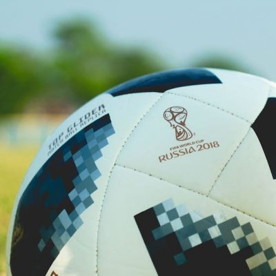 Close up of soccer ball with FIFA World Cup logo